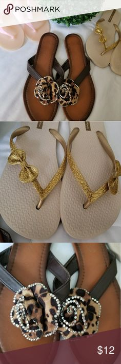 3 pair of sandals Selling as a bundle 3 pair of sandals ( jelly sandals NWOT) Ipanema Shoes Sandals