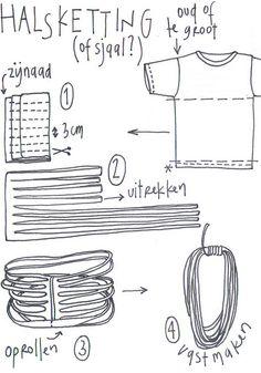 How to do a nice selfmade scarf