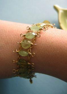 wire wrapped bracelet by JewelMC