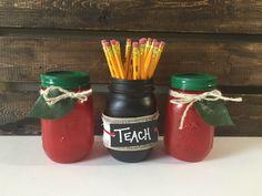 Teacher Mason Jars, Teacher Appreciation Gift, Teacher Gift, Classroom Organization by LetterFlyDesigns on Etsy https://www.etsy.com/listing/386387240/teacher-mason-jars-teacher-appreciation