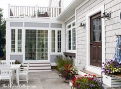 Sunroom Update - Outside - The Lilypad Cottage
