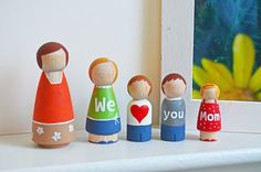 personalized peg doll family <3