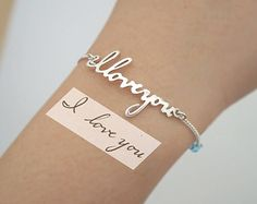 SALE Signature Bracelet in Sterling by SilverHandwriting on Etsy