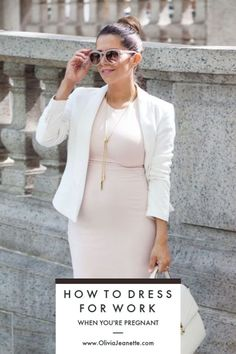 Maternity Work Outfits | maternity office wear | how to dress for work when you're pregnant | work outfit | maternity business dress | maternity office outfits || Olivia Jeanette #maternityclothes #officedress