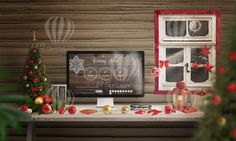 #Christmas #Desk #Mockup #Scene #Creator  Christmas Desk Mockup Scene Creator was designed to promote your work like responsive web sites or make header / hero images for your web site  http://rsplaneta.com/portfolio/christmas-desk-mockup-scene-creator/