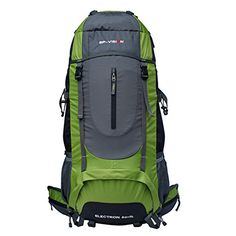 60L large capacity waterproof tear resistant breathable hiking outdoor travel backpack *** Discover this special outdoor gear, click the image : Backpacking gear