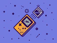 Spacey Gameboy by Elliot Belchatovski #Design Popular #Dribbble #shots