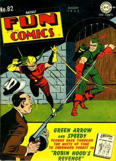 More Fun Comics Golden Age - Yahoo Image Search Results Vintage Comic Books, Vintage Comics, Comic Books Art, Comic Art, Book Art, Action Comics 1, Dc Comics Art, Fun Comics, Green Arrow