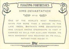 2011 Topps Allen & Ginter - Floating Fortresses #FF18 HMS Devastation Back