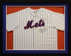 Autographed New York Mets Jersey custom made at Art and Frame Express in Edison NJ
