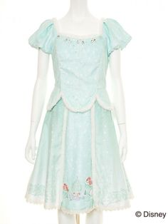 Secret Honey Disney Little Mermaid Ariel Dress One Piece Women Lolita Light Blue in Clothing, Shoes & Accessories, Women's Clothing, Dresses | eBay