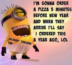 Minions new-years-humor 。◕‿◕。 See my Despicable Me Minions pins https://www.pinterest.com/search/my_pins/?q=minions
