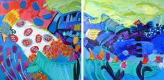 "SOLD Saatchi Art Artist Valerie Erichsen Thomson; Painting, ""Dream Companions"" #art"