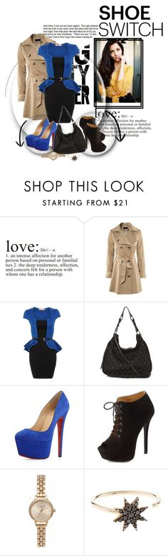 """~Losing him was blue like I'd never known~"" by raeken ❤ liked on Polyvore featuring Chicnova Fashion, Christian Louboutin, Charlotte Russe, Olivia Burton, Bee Goddess, women's clothing, women, female, woman and misses"