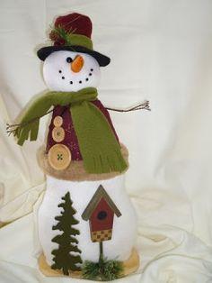 EL TALLER DE ROSA: MUÑECOS 2011 Christmas Fabric, Christmas Snowman, Xmas, Christmas Ornaments, Fabric Decor, Fabric Crafts, Reno, Holiday Decor, Snowmen