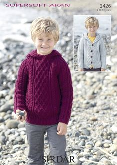 Hooded Cable Sweater & Cable Cardigan in Sirdar Supersoft Aran - 2426. Discover more Patterns by Sirdar at LoveKnitting. The world's largest range of knitting supplies - we stock patterns, yarn, needles and books from all of your favourite brands.