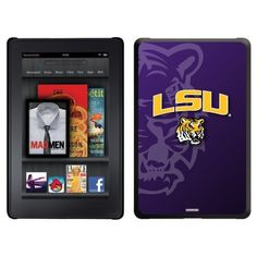 LSU - Tiger Mascot design on a Black Thinshield Case for Amazon Kindle Fire by Coveroo. $39.95. This hard shell polycarbonate case offers a slim fit form factor, while covering the back and sides of your Kindle Fire