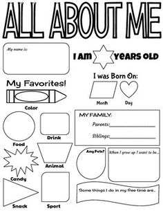 This activity sheet is perfect for getting to know your students! It can be done individually or even with a partner, making it a good way for students in the class to get to know each other as well. Overall it is a fun and easy way to learn more about each student!