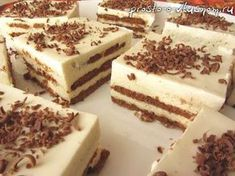 New Ideas Cheese Cake Rezept Ohne Backen No Bake Desserts, Dessert Recipes, Tasty, Yummy Food, Russian Recipes, How Sweet Eats, Chocolate Cookies, Healthy Baking, Yummy Cakes