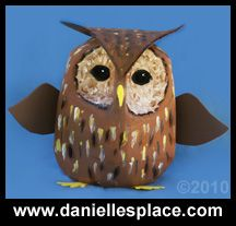 owl milk jug recycle craft for kids