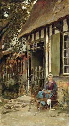 The Athenaeum - ROBINSON, Theodore American Impressionist (1852-1896)_Spinning