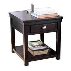 Rectangular End Table in Espresso | Nebraska Furniture Mart