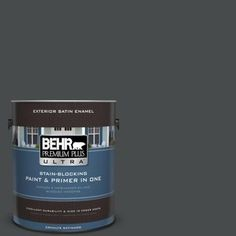 BEHR Premium Plus Ultra 1-gal. #N450-7 Astronomical Satin Enamel Exterior Paint
