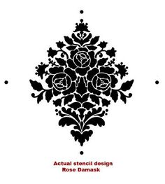 Wall Stencil Damask Rose Reusable stencils by CuttingEdgeStencils