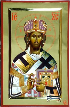 Christ the King. Feast: Last Sunday of October. Religious Icons, Religious Art, Christ The King, Holy Quotes, High Priest, Byzantine Icons, Orthodox Icons, Christian Art, Black History