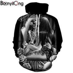 fad0f6108 2018 Hot hoody new 3d Skull Hoodies Men Women Fashion Winter  Springdresskily Funny Sweatshirts, Cool