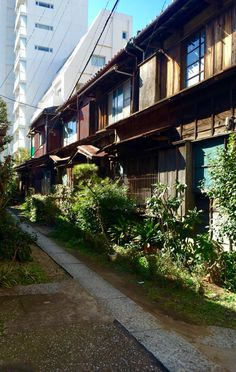 Japanese old style houses.