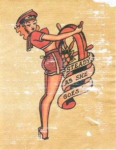 I love old school tattoos. ESP sailor girls.