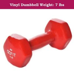 """Vinyl Dumbbell Weight: 7 lbs. HRH-DB7 Weight: 7 lbs Features: -Vinyl coated. Product Type: -Dumbbells. Quantity: -Single. Weight Range: -< 5 Lbs./5-30 Lbs.. Material: -Vinyl. Rubber Coated: -Yes. Dimensions: Weight 3 lbs - Overall Height - Top to Bottom: -2.5"""". Weight 3 lbs - Overall Width - Side to Side: -6"""". Weight 3 lbs - Overall Depth - Front to Back: -2.5"""". Weight 3 lbs - Overall Product Weight: -3 lbs. Weight 5 lbs - Overall Height - Top to Bottom: -3"""". Weight 5 lbs - Overall Width…"""