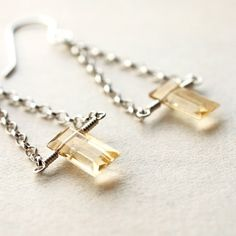 Leading Lady Statement Earrings. Citrine and Silver - Love these!