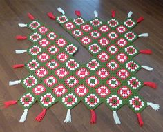 Crochet Granny Squares Christmas Tree Skirt Holiday Decor