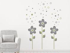 Superb Blumen mit Seifenblasen Wandtattoo BlumenSeifenblasenLieferungWohnzimmer