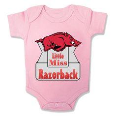 Little Miss Arkansas Razorback Onesie Baby by PersonalGiftCreation, $12.99