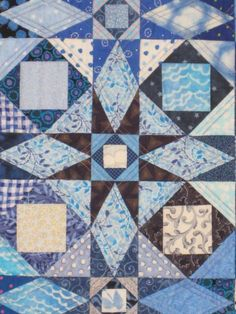 Storm at sea quilting