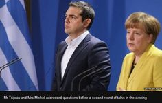 Greek Prime Minister Alexis Tsipras and the German Chancellor Angela Merkel have struck conciliatory tones at their Berlin summit, but remained vague on how to prevent Athens from running out of money.