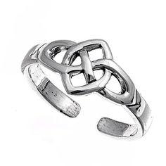 Silver Celtic Mid Finger Ring #MidFingerRing