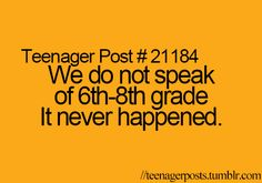 Teenager Posts This is how I will feel in high school because so far it's how I feel now.