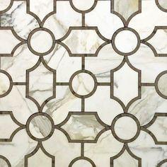 Calacatta Gold Marble Sinuous Water Jet Mosaic Tile – TileBuys