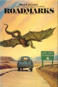 """Roadmarks, by Roger Zelazny. """"If you like science fiction AND driving your pickup truck, this is a must-read! Book Club Books, Good Books, Book Art, Roger Zelazny, Book And Magazine, Magazine Covers, Science Fiction Books, Fiction Novels, Arte Tribal"""