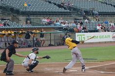 LI Ducks vs New Britain Bees, Bethpage Ballpark Central Islip NY 5/27/16. This is New Britain's inaugural season and first time in NY.