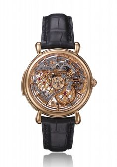 Vacheron Constantin 2004 minute repeater skeleton dial and Caliber rose gold hand engraved