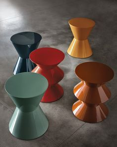Lacquered synthetic material coffee table CESAR Cesar Series by Minotti