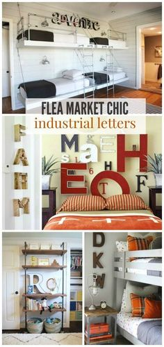 Flea Market Chic: Industrial Letters and how to use them to decorate