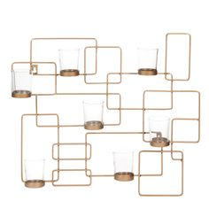 Candelero de pared de metal 43 × 50 cm FERAO