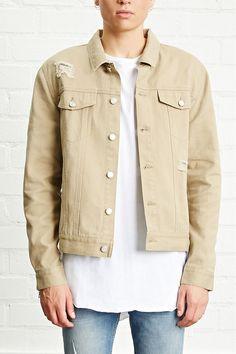 DISTRESSED ZIPPER DENIM JACKET #style #fashion #trend #onlineshop #shoptagr