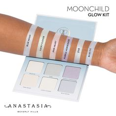 Moon Child Glow Kit swatched on Medium complexion